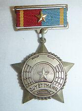VIET CONG MEDAL - Captured US GUN METAL - QUYET THANG, VC NLF, Vietnam War, 5520