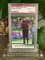 2001 UPPER DECK GOLF TIGER WOODS #1 ROOKIE RC PSA 10 🔥 Includes Stand!