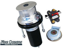 "Five Oceans Vertical capstan - S.S 316 - 12V 900W - rope up to 7/8"" - BC 3716"