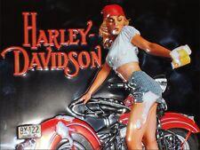 Harley Davidson Girl Vintage Metal Sign