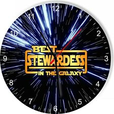 Best Stewardess in the Star Galaxy Space Kitchen Living room Wall Clock