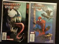 ULTIMATE SPIDER-MAN (2003) LOT 33 (1ST ULTIMATE VENOM) & 112 ~CLASSIC COVERS KEY