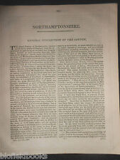 Wiltshire County James Dugdale 1819 British Traveller Disbound Section