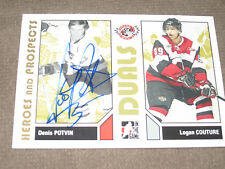 DENIS POTVIN AUTOGRAPHED 2007-2008 ITG HEROES AND PROSPECTS CARD