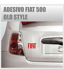 adesivo logo fiat 500 abarth tuning sticker old style stickers auto vetri
