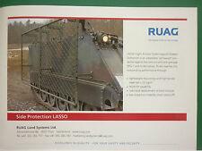 10/2008 PUB RUAG AEROSPACE LAND SYSTEMS SIDE PROTECTION LASSO BLINDE ORIGINAL AD
