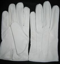 Men's Dress Gloves in White Kidskin Leather