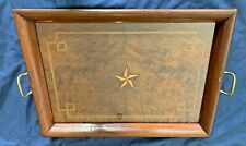 Vintage Inlaid Wooden Serving Tray - 1952