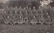 RPC Postcard: WW1 - A Group Portrait of 28 British Soldiers - Reg TBD