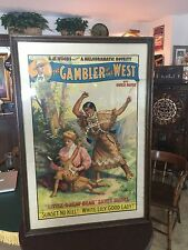 "1906 ""The Gambler of the West"" Theatrical Play Lithograph Poster ""Watch Video"