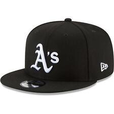 Oakland Athletics New Era Black & White 9FIFTY Snapback Hat - Black
