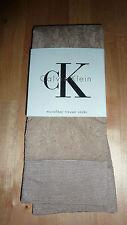 Calvin Klein beige taupe nude pantalon chaussettes UK 6 7 BNWT UE 39 40 femmes RARE!!!