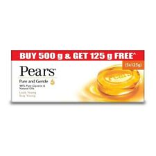 Pears Pure and Gentle Bathing Bar, 125 gm (Buy 4 Get 1 Free) Free shipping world