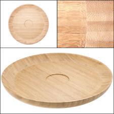 "Salsabol 15"" Bamboo Serving Platter Chip Dip Wooden Tray Bowl Round Circle"