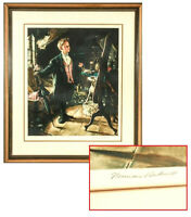 "NORMAN ROCKWELL (AMERICAN, 1894-1978) ""TOP HAT AND TAILS"" SIGNED ARTIST'S PROOF"