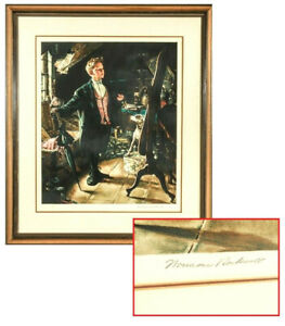 """NORMAN ROCKWELL (AMERICAN, 1894-1978) """"TOP HAT AND TAILS"""" SIGNED ARTIST'S PROOF"""