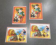 Vintage Walt Disney Christmas Originals Christmas Cards. Mickey Mouse/Pinocchio