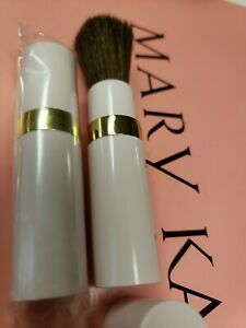 """Mary Kay Pink Round Brush 3"""" Sable Bristle Makeup Twist Up to Open GOOD DEAL"""