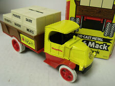 Ertl1:38 Replica,1926 Mack Bulldog Crate Truck, Bank, Shop Rite, Exc Cond, W/Box