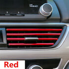 10Pcs Car Air Conditioner Air Outlet Vent Grille Strip Red Interior Accessories photo