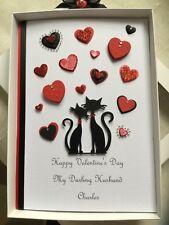 Anniversary Card Handmade Personalised Husband Wife Mum Dad Boxed