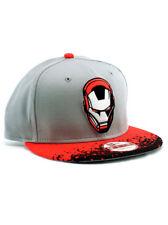 New Era Iron Man 9fifty A-Frame Strapback Hat Adjustable Marvel Heroes Grey  Pink 172f8c851149