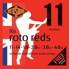 Rotosound R11 Roto Reds Electric Guitar Strings Gauge 11-48 New Foil Fresh Packs