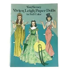 Vintage 1981 Tom Tierney Vivien Leigh Uncut Paper Dolls Gone With The Wind Gwtw