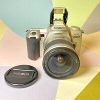 MINOLTA DYNAX 404Si 35mm SLR Film Camera & LENS Film Tested. Lomo Retro Student?
