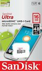 SanDisk 16GB microSD Ultra 48MB/s C10 micro SD SDHC 16G SDSQUNB-016G *sliver*
