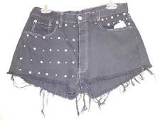 Urban Outfitter renewal Vintage black Shorts silver studs pearl size M New