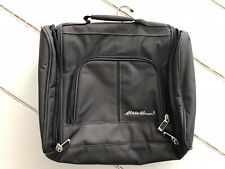 Eddie Bauer Accessory Travel Bag Black With Several Compartments & Hanging Hook