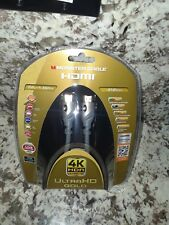 Monster Cable 4K HDR Ultra HD Gold 60Hz 21.0Gbps 6ft HDMI(24 KT CONTACTS)SPEED