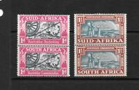 1938 King George VI SG80 & SG81 Bilingual Pairs  Mint Hinged  SOUTH AFRICA