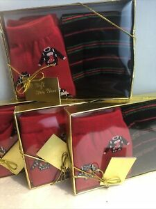 NEW 4 Boxes  of Christmas socks size 9-11 Gift Boxes 2 Pair In Each