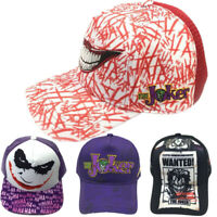 The Joker Suicide Squad Baseball Cap Embroidered Hat Cosplay Prop