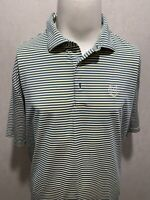 PETER MILLAR Summer Comfort Spandex Stretch Striped Mens Polo Shirt Extra Large