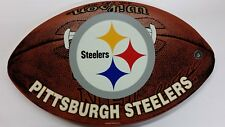 "NFL Pittsburgh Steelers 12"" x 20"" Plastic Football Shaped Sign"