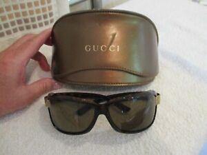 """Genuine """"GUCCI"""" Brown GG Monogram Sunglasses"""