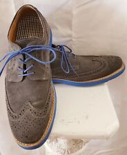 Stafford Suede Men's Shoes Sz 12M Gray and Blue Excellent Condition