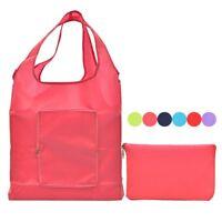 Reusable Shopping Bag Folding Purse Tote Bag Grocery Handbag Eco Shoppers Zipper