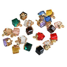 20pcs Alloy Cube Crystal Pendants Charms Findings for Jewelry Making Crafts