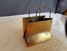 Vintage Cartier handmade sterling silver gift bag shopping for engagement ring