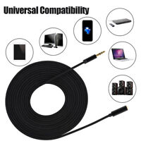 3M/5M 3.5mm Jack Male to Female Stereo Audio Headphone Earphone Extension Cable