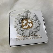 Margaret Furlong Oak and Acorn Wreath Christmas Ornament in Box 1996