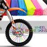Wheel Spoke Wraps Kit Rims 36pc Skins Covers Guard Protector Motocross Dirt Bike