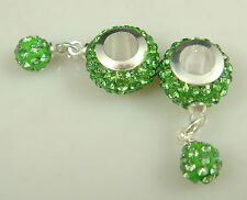hot Gorgeous Czech Crystals Dangle Bead fit European Charm Bracelet Earrings ie1