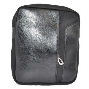 Borsello borsa uomo nero con tracolla a 2 scompartimenti con zip nascosta fronta