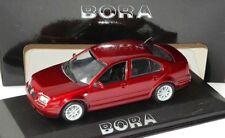 RARE VW BORA 1J2 HIGHLINE BBS ALLOYS METALLIC RED 1:43 MINICHAMPS (DEALER MODEL)