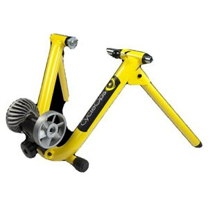 "Saris CycleOps Fluid Indoor Bike Bicycle Trainer, Yellow, Fits 26""-29"" Foldable"